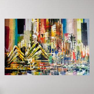 Poster Ville de l'Australie