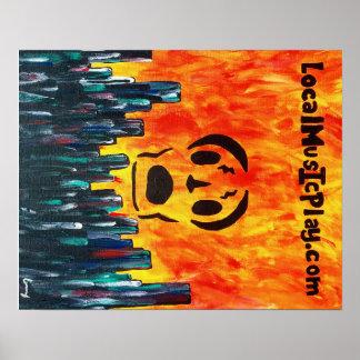 Poster ville du feu d'affiche de Localmusicplay.com