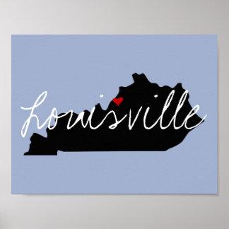 Poster Ville du Kentucky