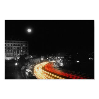 Poster Ville et la lune