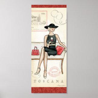 Poster Vin potable de Fashionista