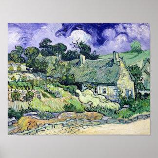 Poster Vincent van Gogh | a couvert des cottages de