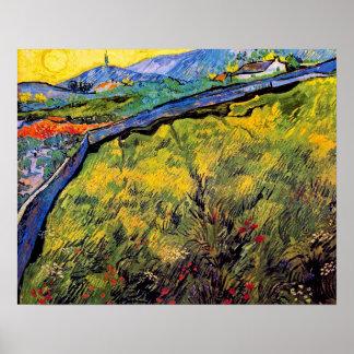 Poster Vincent van Gogh - champ de blé de mars