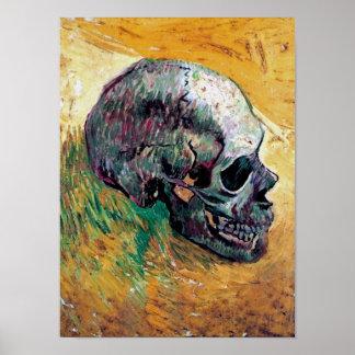 Poster Vincent van Gogh - crâne dans le profil -