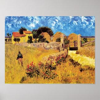 Poster Vincent van Gogh - ferme en beaux-arts de la