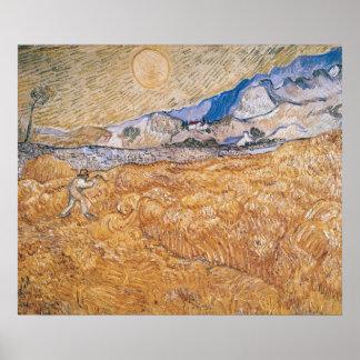 Poster Vincent van Gogh | la moissonneuse