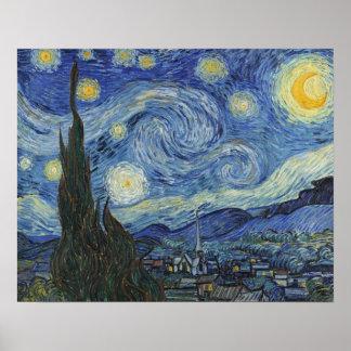 Poster Vincent van Gogh | la nuit étoilée, juin 1889
