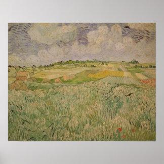Poster Vincent van Gogh | la plaine chez Auvers, 1890