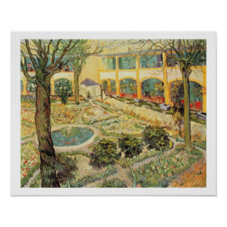 Poster Vincent van Gogh | le jardin d'asile chez Arles