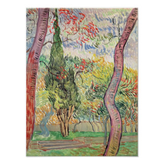 Poster Vincent van Gogh   le jardin de l'hôpital de St