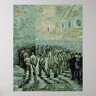 Poster Vincent van Gogh | le yard d'exercice