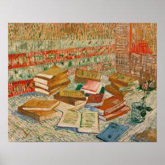 Poster Vincent van Gogh | les livres jaunes, 1887