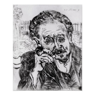 Poster Vincent van Gogh | l'homme avec le tuyau