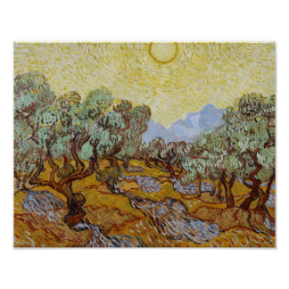 Poster Vincent van Gogh - oliviers