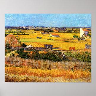 Poster Vincent van Gogh - récolte aux beaux-arts de Crau