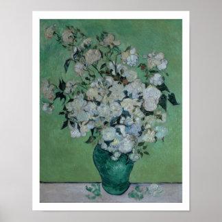 Poster Vincent van Gogh | un vase de roses, 1890