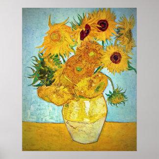 Poster Vincent van Gogh - vase avec 12 tournesols