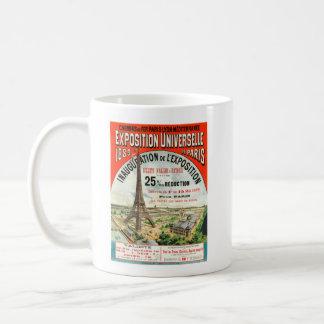 Poster vintage 1889 de Tour Eiffel d'Exposition Mug