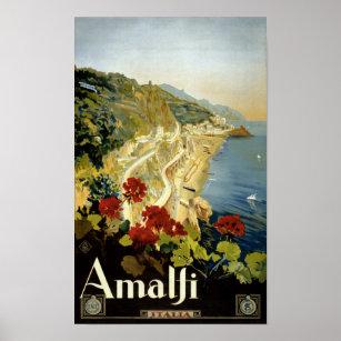 Poster vintage d'Amalfi Italie Italie reconstitué