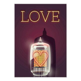 """Poster vintage de """"amour"""" de tube de Nixie Photographie"""