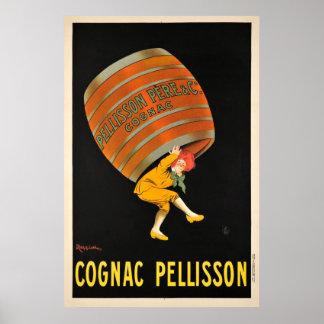 Poster vintage de baril de boisson de Pellisson de