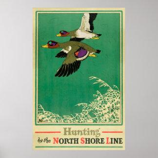 Poster vintage de chasse et de pêche
