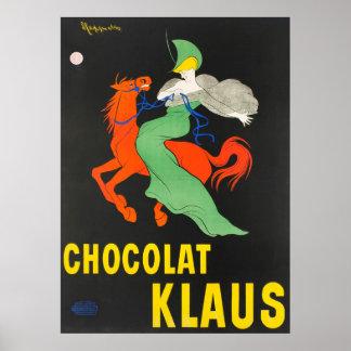 Poster vintage de Chocolat Klaus Leonetto