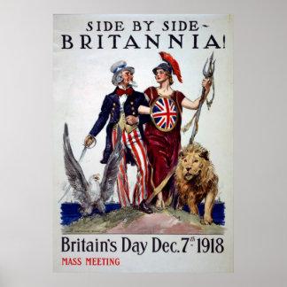 Poster vintage de jour de Britains