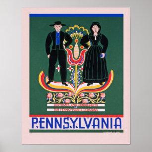 Poster vintage de la Pennsylvanie