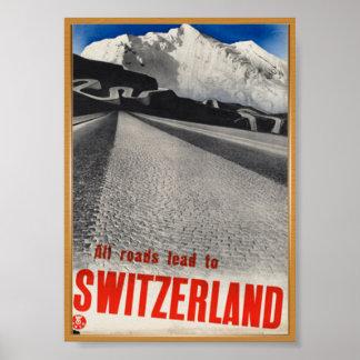 Poster vintage de la Suisse