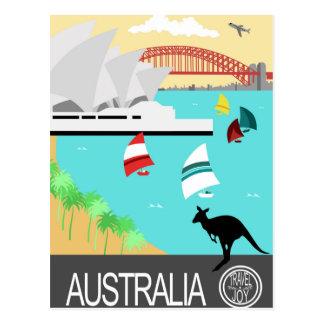 Poster vintage de l'Australie Carte Postale