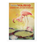 Poster vintage de Varig pour la carte postale du B