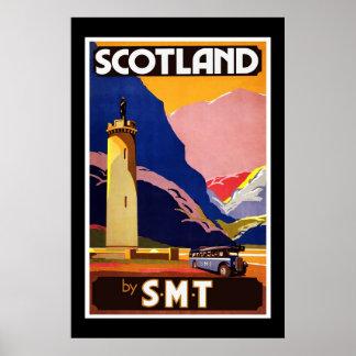 Poster vintage Ecosse de voyage de S.M.T