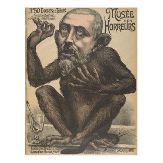 Poster vintage français déplaisant de DES Horreurs Cartes Postales