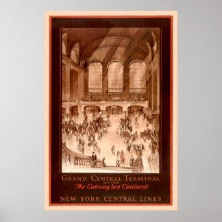 Poster vintage grand de central