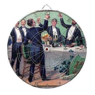 Poster vintage original de boissons du jour de jeu de fléchettes
