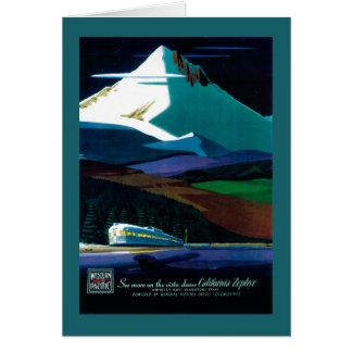 Poster vintage Pacifique occidental de zéphyr de Carte De Vœux