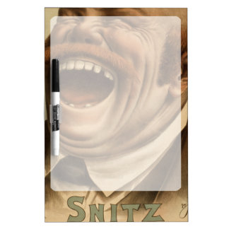 Poster vintage : Snitz au-dessus du mur de jardin Tableaux Blancs Effaçables À Sec