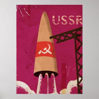 Poster vintage soviétique de l'URSS de programme