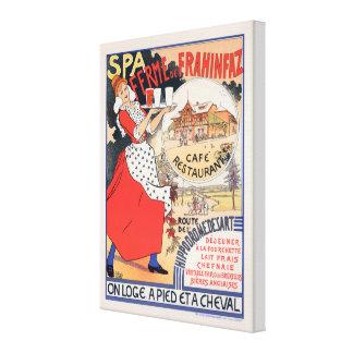 """Poster vintage """"SPA Ferme de la Frahinfaz """" Toiles"""