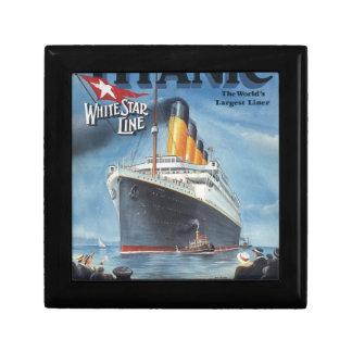 Poster vintage titanique original 1912 petite boîte à bijoux carrée