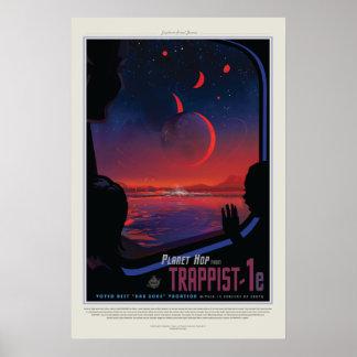 Poster Vision de la future affiche : Planète Trappist-1e