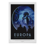 Poster Visite d'Europa - rétro affiche d'art de voyage