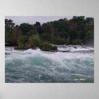 Poster Visite touristique aux chutes du Niagara