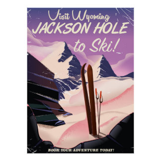 Poster Visite Wyoming ! Jackson Hole à skier affiche de