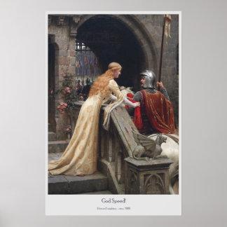 Poster Vitesse de Dieu par Edmund Leighton