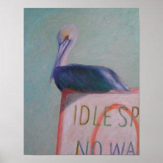 Poster VITESSE OISIVE AUCUNE affiche de SILLAGE