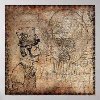 Poster Vitesses de monsieur de Steampunk rétros
