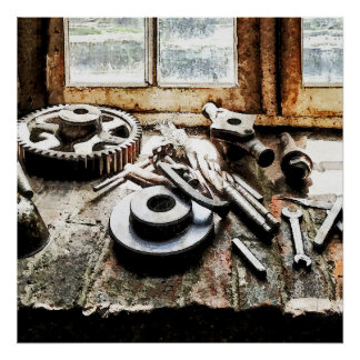 Poster Vitesses et clés dans l'atelier de construction