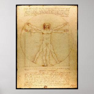 Poster Vitruve Luc Viatour par Leonardo da Vinci